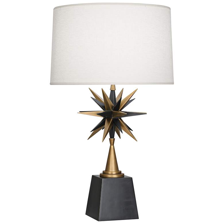 Robert Abbey Cosmos Warm Brass Metal Table Lamp