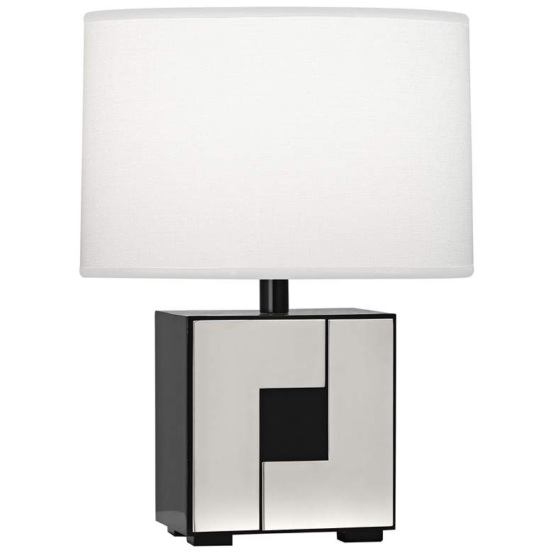 "Robert Abbey Blox 15 1/2""H Black Enamel Geometric Table Lamp"