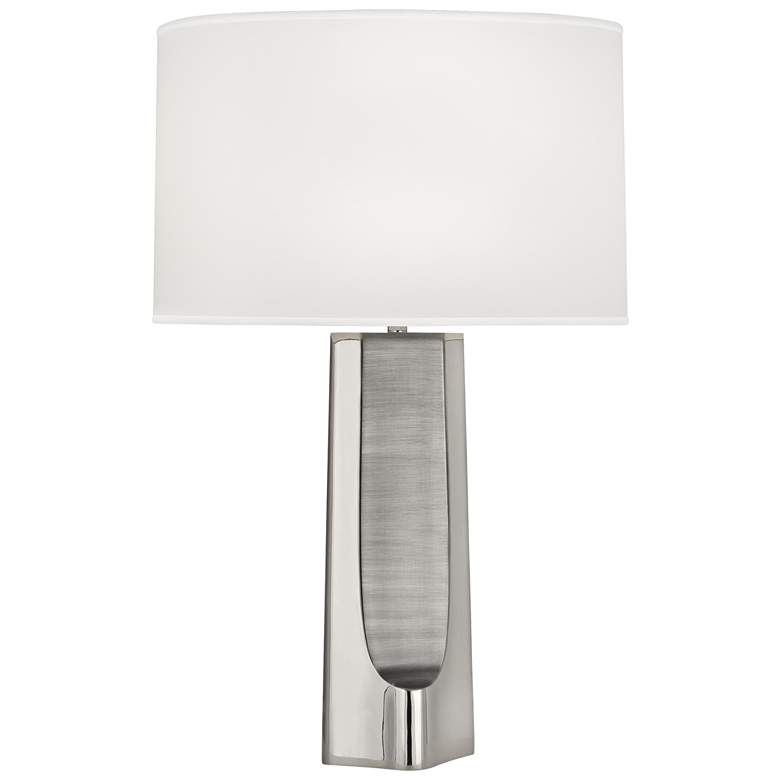 Robert Abbey Margeaux Polished Nickel Concave Table Lamp