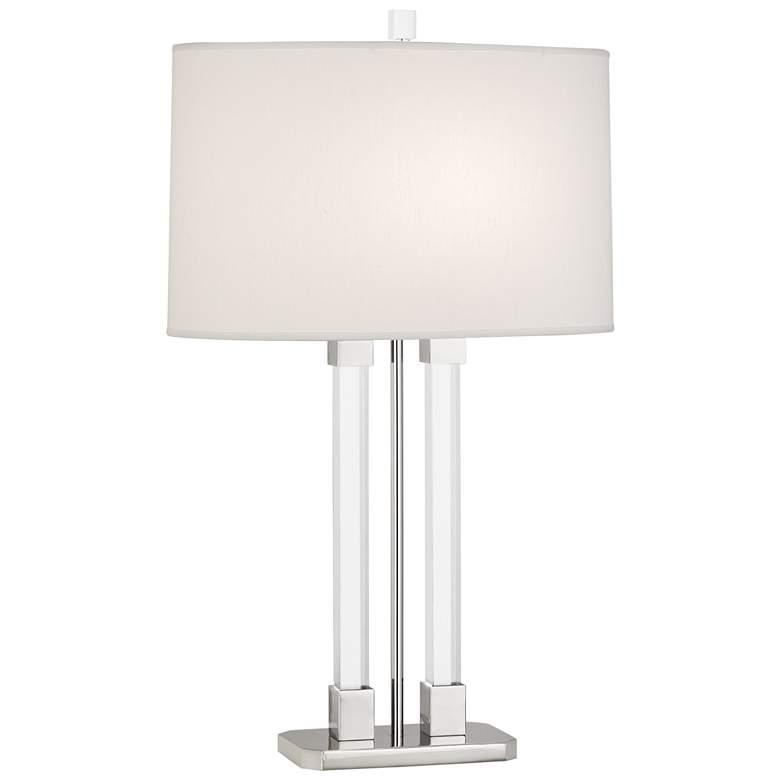Robert Abbey Plexus Polished Nickel 2-Column Table Lamp