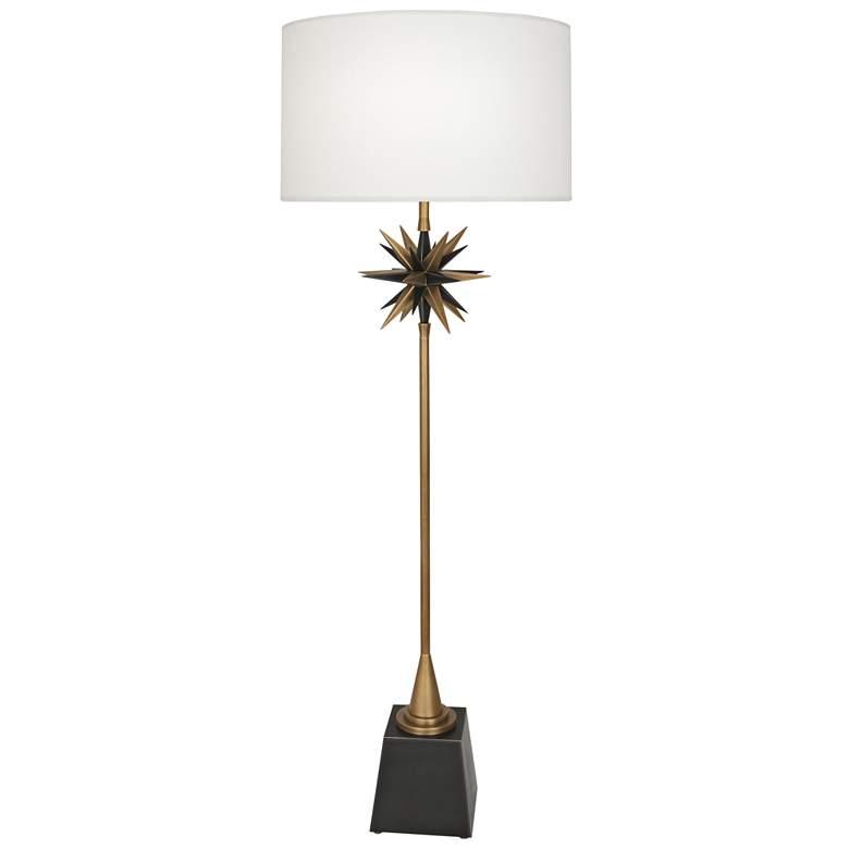 Robert Abbey Cosmos Warm Brass Metal Floor Lamp