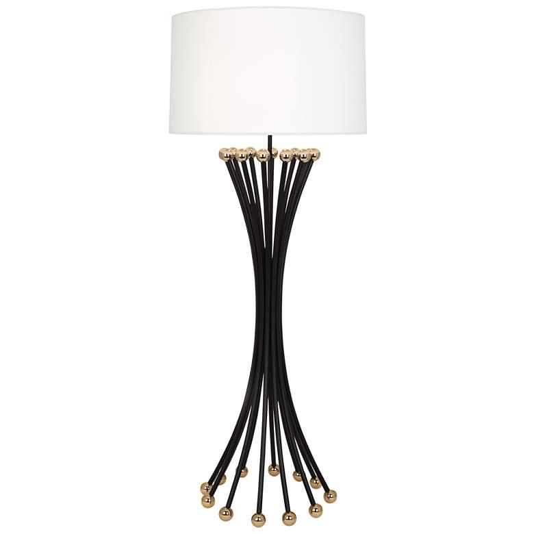 Jonathan Adler Biarritz Blackened Metal Floor Lamp