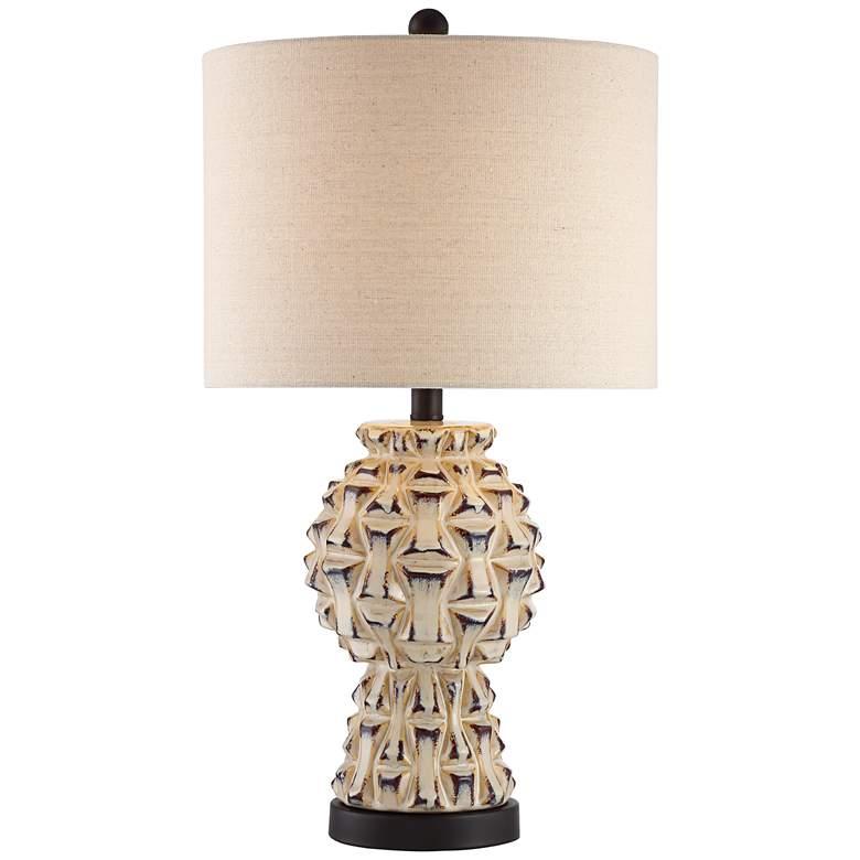 Keanu Ceramic Table Lamp with Bronze Metal Base