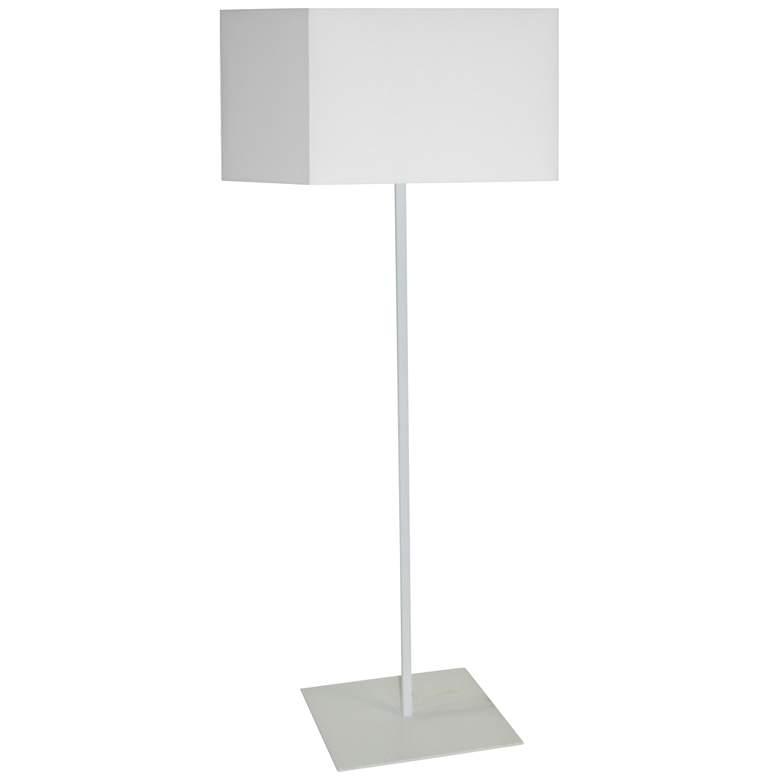 Jude Matte White Metal Square Shade Floor Lamp