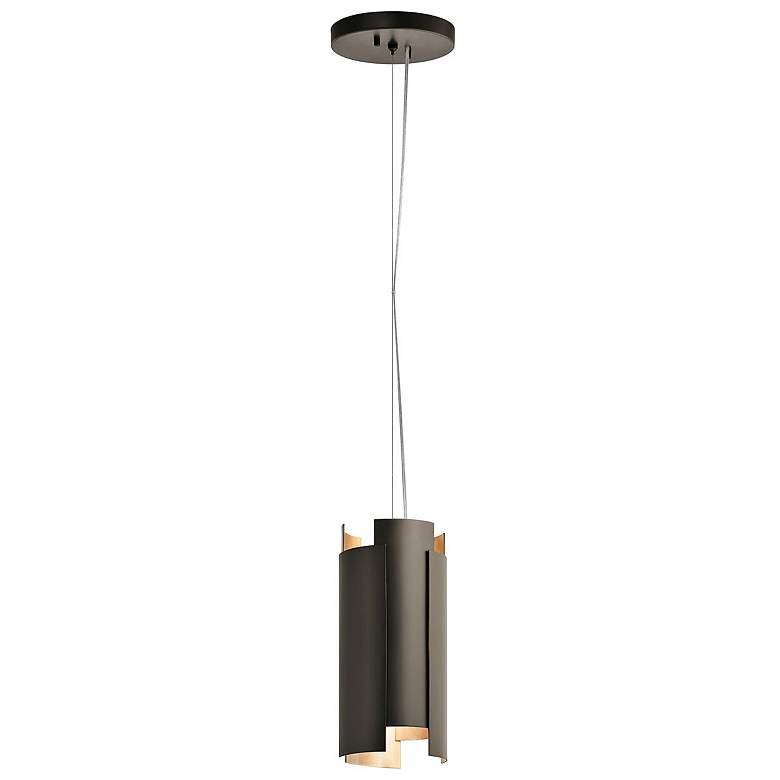 "Kichler Moderne 5 1/2"" Wide Olde Bronze LED Mini Pendant"