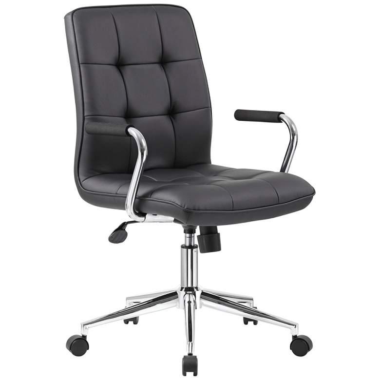 Boss Modern Black CaressoftPlus Adjustable Office Chair