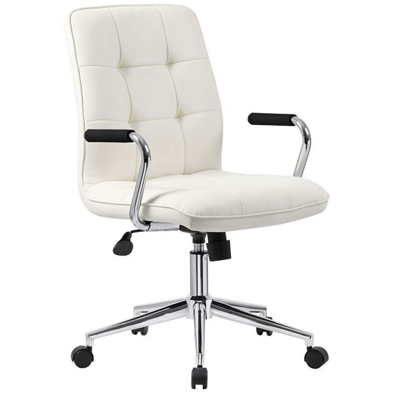 Boss Modern White CaressoftPlus Adjustable Office Chair