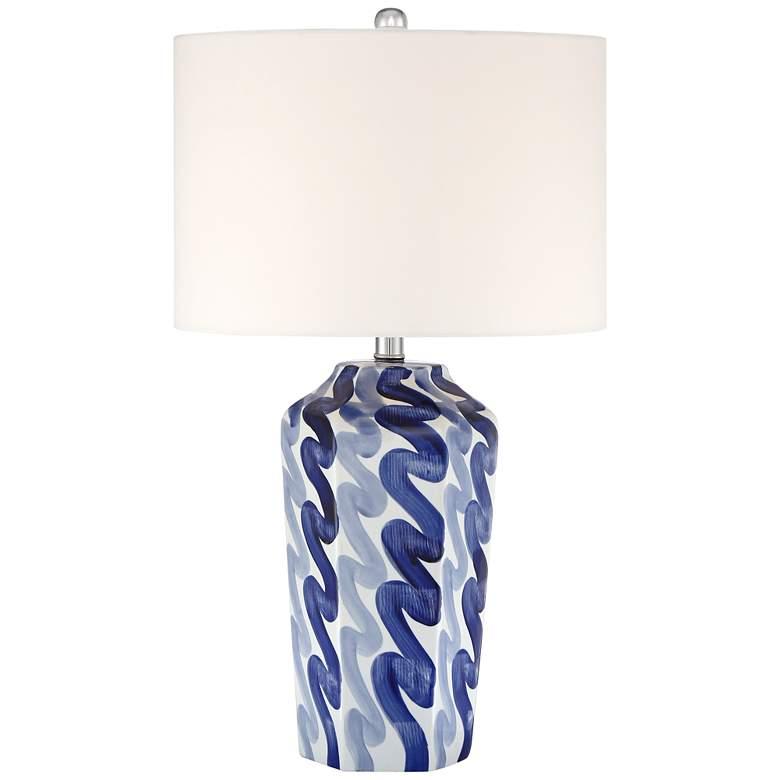 Tony Blue and White Ceramic Table Lamp