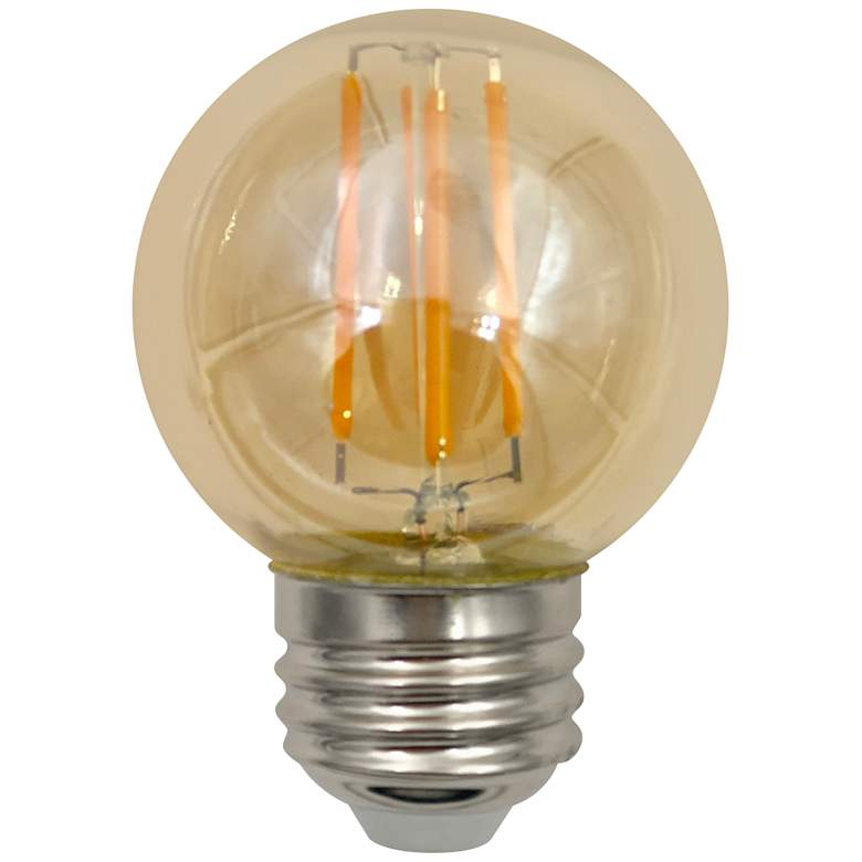 60W Equivalent Amber 6W LED Dimmable G16 Filament