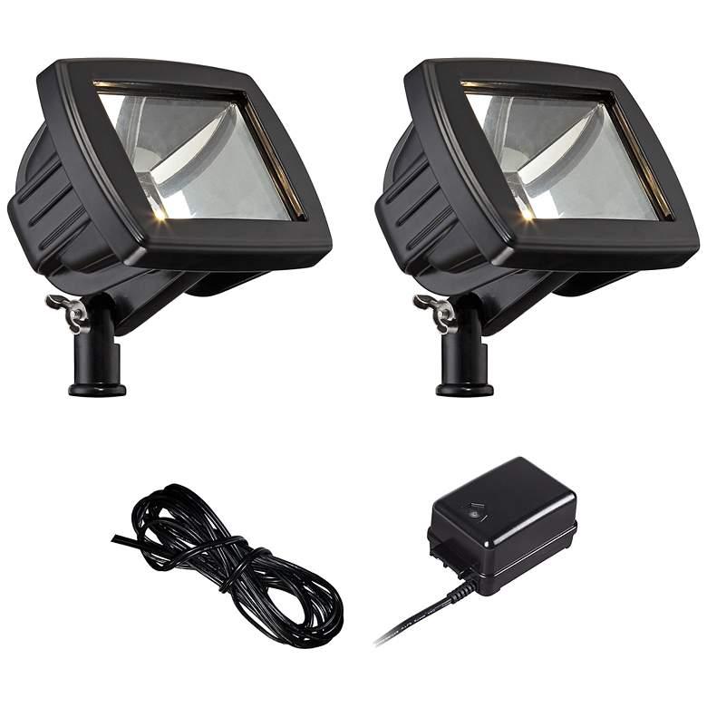 Black LED Flood Light Landscape Kit