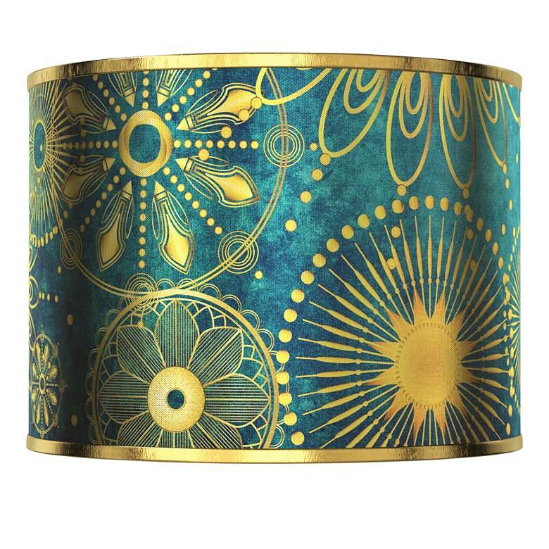 Celestial Giclee Gold Metallic Lamp Shade 13.5x13.5x10 (Spider)