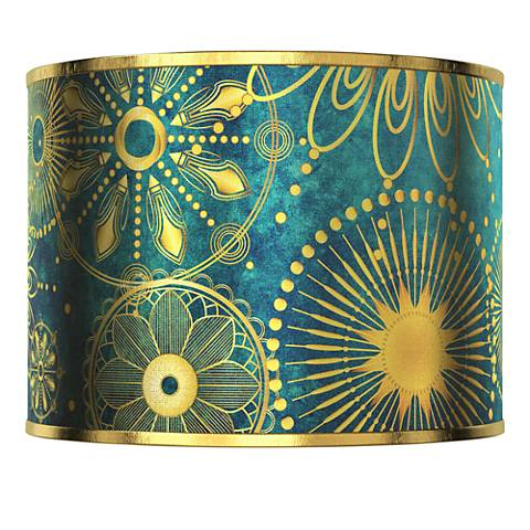 Celestial Giclee Gold Metallic Lamp Shade 13.5x13.5x10 (Spider)
