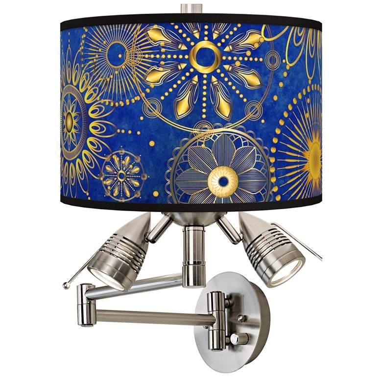 Celestial Giclee Plug-In Swing Arm Wall Lamp