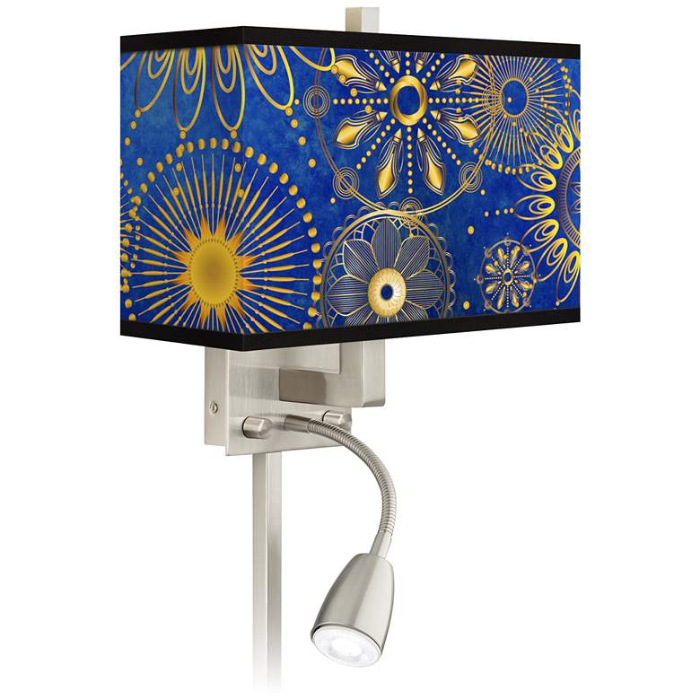 Celestial Giclee Glow LED Reading Light Plug-In Sconce