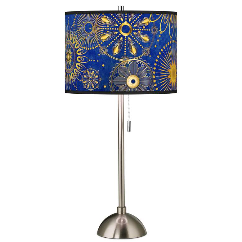 Celestial Giclee Brushed Nickel Table Lamp
