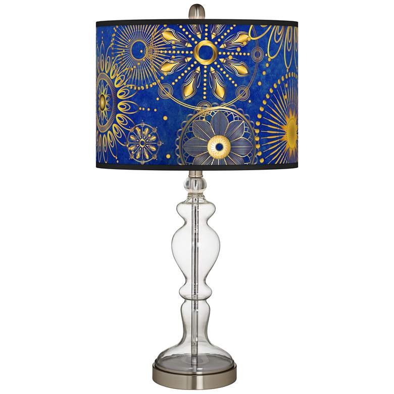 Celestial Giclee Apothecary Clear Glass Table Lamp