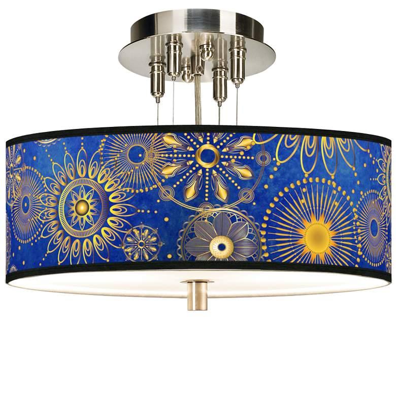 "Celestial Giclee 14"" Wide Ceiling Light"