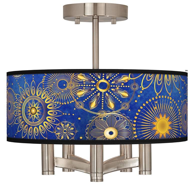 Celestial Ava 5-Light Nickel Ceiling Light