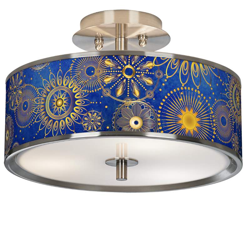 "Celestial Giclee Glow 14"" Wide Ceiling Light"