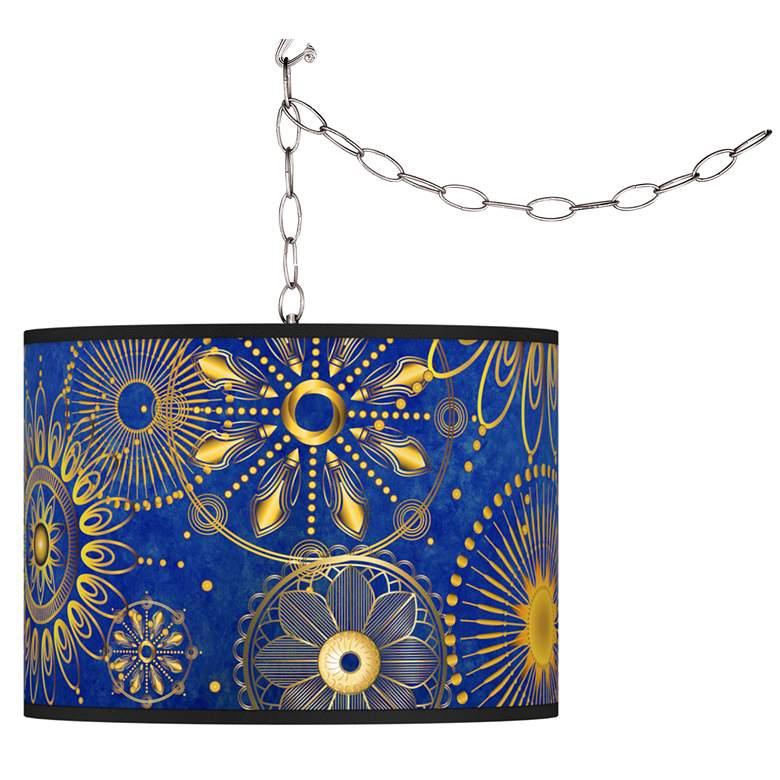 Celestial Giclee Glow Plug-In Swag Pendant