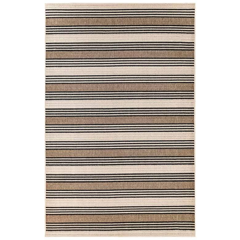 """Riviera Stripe 7640/12 4'10""""x7'6"""" Tan Indoor-Outdoor Rug"""