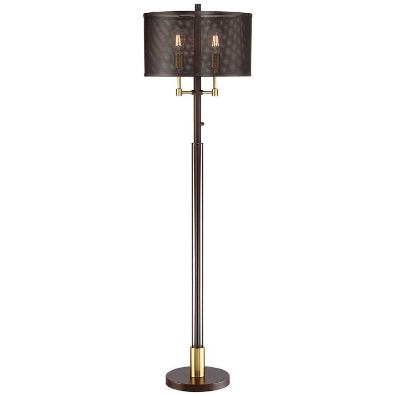 Britton Oil Rubbed Bronze Industrial 3-Light Floor Lamp
