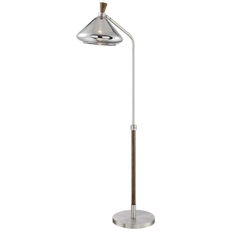 Possini Euro Astley Brushed Nickel Pharmacy Arc Floor Lamp