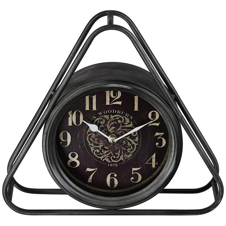 Liana Triangular Black Metal Table Clock