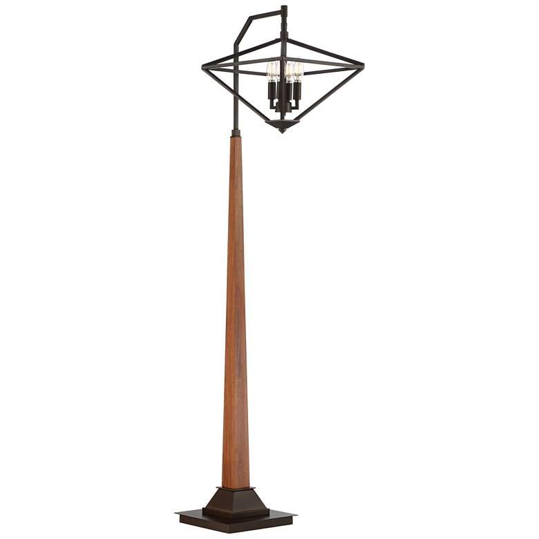 Trevor Farmhouse 4-Light Floor Lamp with Edison Bulbs