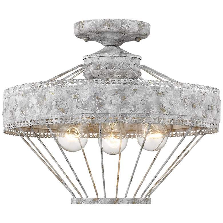 "Ferris 15"" Wide Oyster 3-Light Ceiling Light"