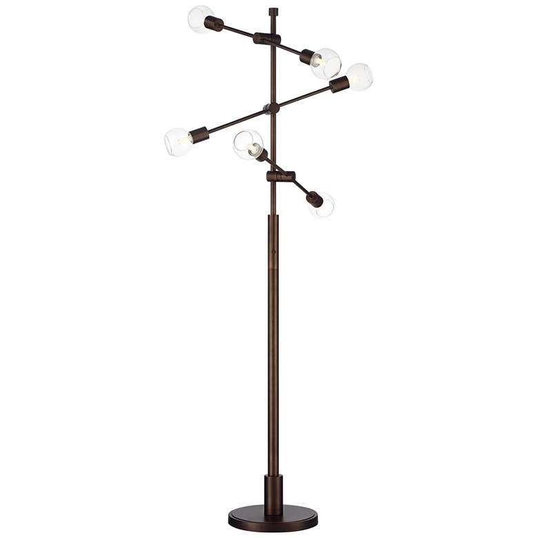 Hailey Satin Bronze 6-Light Floor Lamp