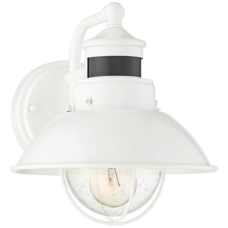 "Oberlin 9""H White Dusk to Dawn Motion Sensor Outdoor Light"