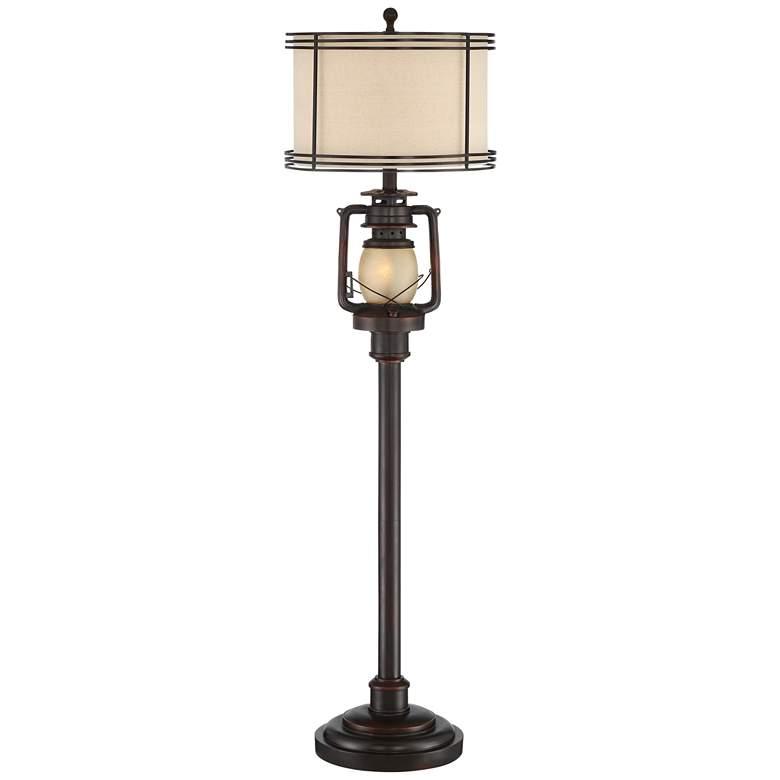 Henson Industrial Bronze Floor Lamp with Night Light