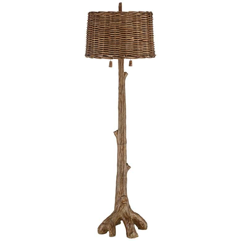 Sequoia Tree Trunk Rustic Pull Chain Floor Lamp