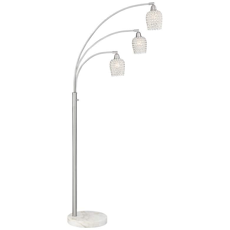 Possini Euro Cielo Brushed Nickel 3-Light Arc Floor Lamp