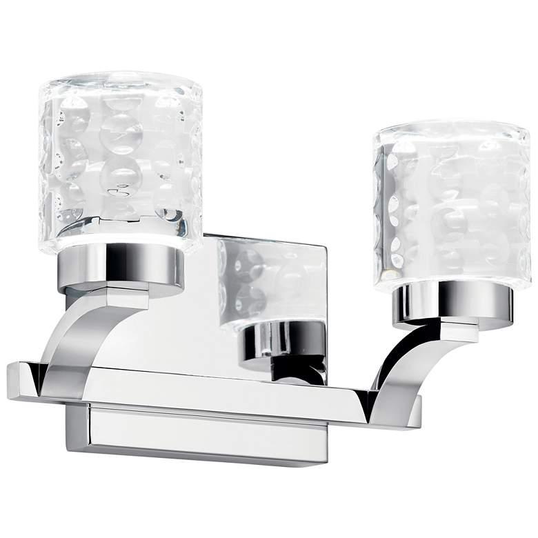 """Elan Rene 7 1/4"""" High Chrome 2-Light LED Wall Sconce"""