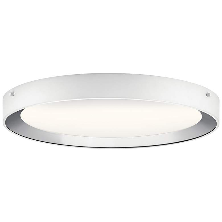 "Elan Incus 19 3/4"" Wide White and Chrome LED Ceiling Light"