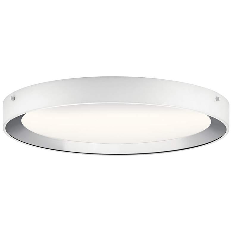 "Elan Incus 19 3/4"" Wide White and Chrome LED Ceiling Light"