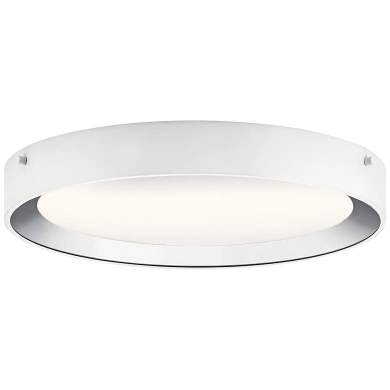 "Elan Incus 15 3/4"" Wide White and Chrome LED Ceiling Light"