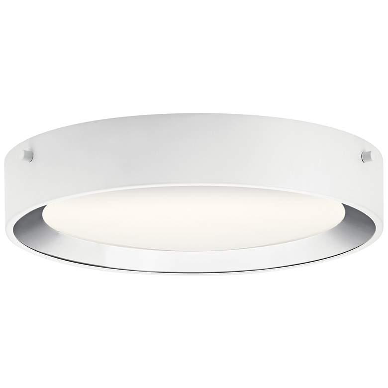 "Elan Incus 11 3/4"" Wide White and Chrome LED Ceiling Light"