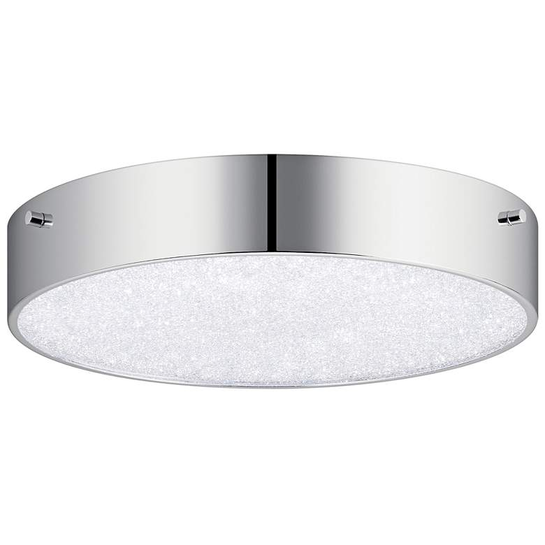 "Elan Crystal Moon 11 3/4"" Wide Chrome LED Ceiling Light"