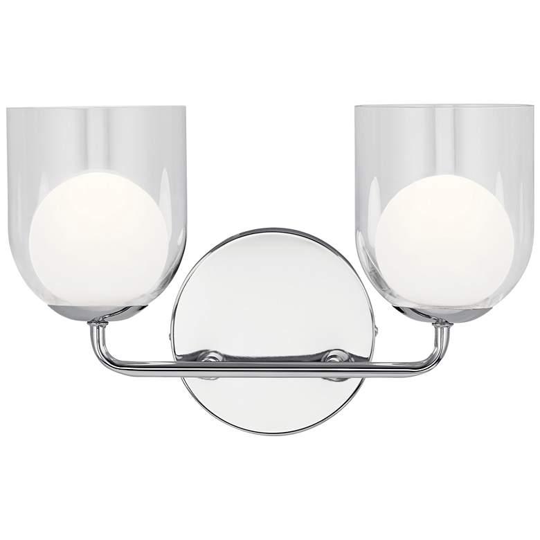 "Elan Beryl 9 1/2"" High Chrome 2-Light LED Wall Sconce"