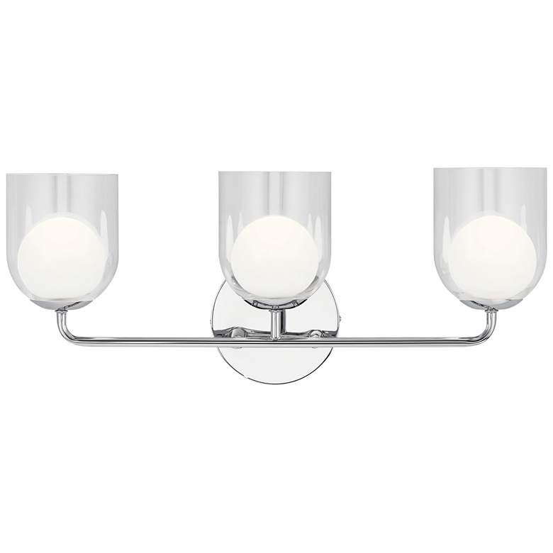 "Elan Beryl 24"" Wide Chrome 3-Light LED Bath"