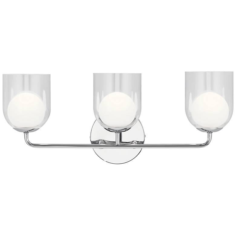 "Elan Beryl 24"" Wide Chrome 3-Light LED Bath Light"