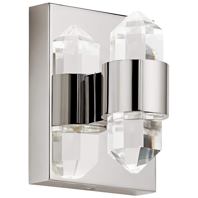 "Elan Arabella 6"" High Polished Nickel LED Wall Sconce"