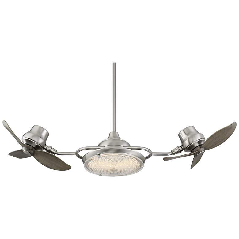 """18"""" Possini Euro Stone Castle Dual Head LED Ceiling Fan"""