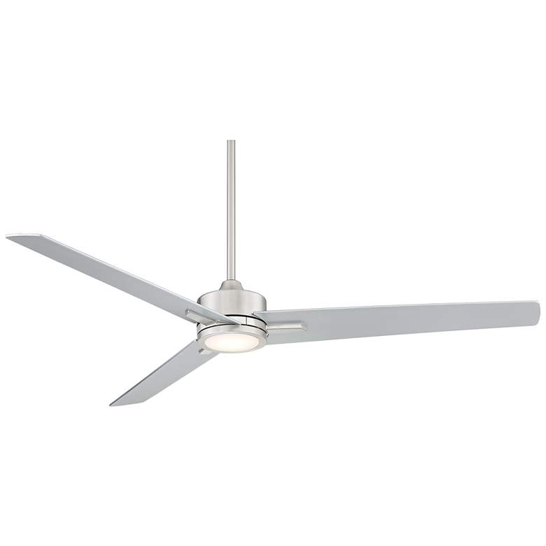 "60"" Monte Largo Brushed Nickel LED Ceiling Fan"