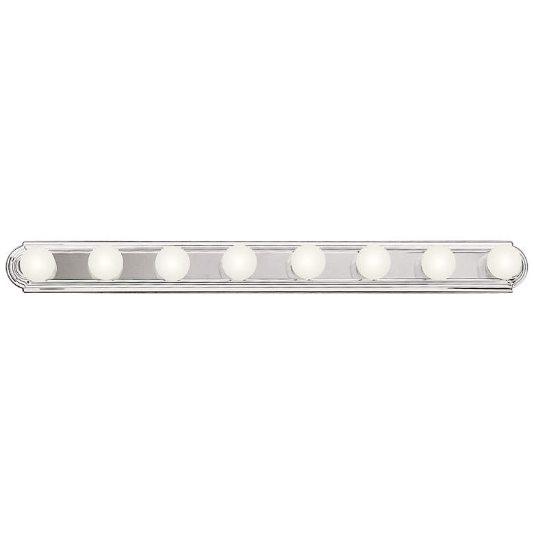 "Kichler McGuire 48"" Wide Chrome 8-Light Linear Bath Light"