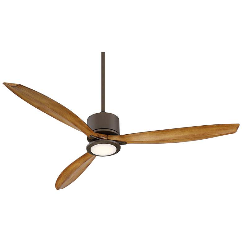 "56"" Casa Vieja Rally Bronze Damp LED Ceiling Fan"