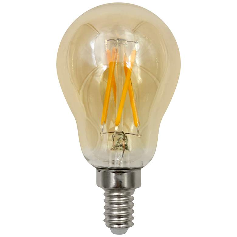 40W Equivalent Amber 4.5W LED Dimmable E12 Base